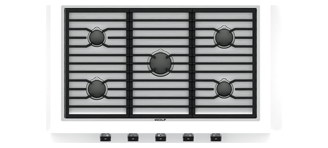 "Wolf 36"" Contemporary Gas Cooktop - 5 Burners"