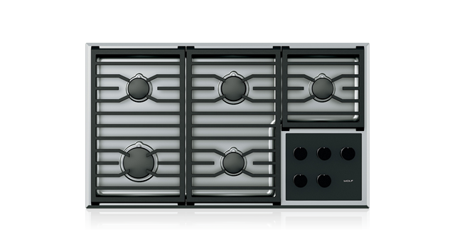 "Wolf 36"" Transitional Gas Cooktop - 5 Burners"