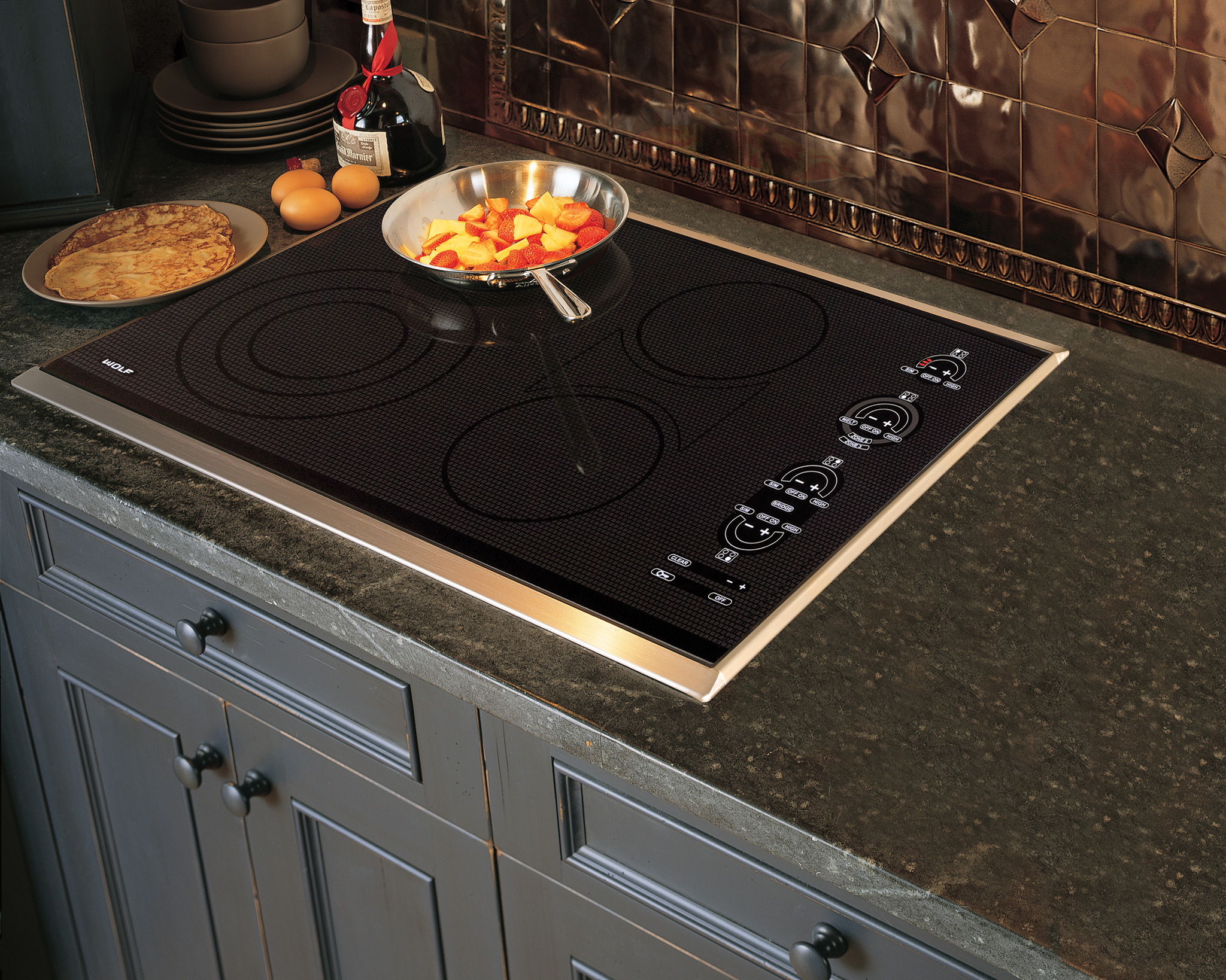 "Wolf 30"" Electric Cooktop - Framed"