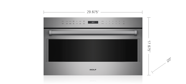 "Model: MDD30PE/S/PH | Wolf 30"" E Series Professional Drop-Down Door Microwave Oven"