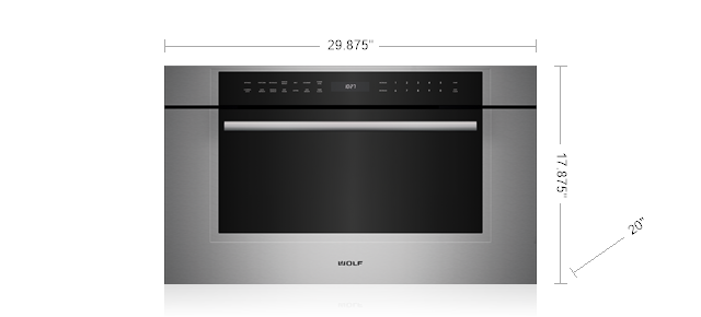"Wolf 30"" M Series Transitional Drop-Down Door Microwave Oven"