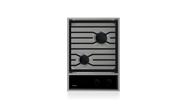 "Model: CG152TF/S | Wolf 15"" Transitional Gas Cooktop"