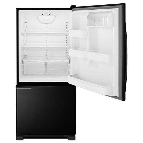 Model: ABB1921BRB | Amana 29-inch Wide Bottom-Freezer Refrigerator with Garden Fresh™ Crisper Bins -- 18 cu. ft. Capacity