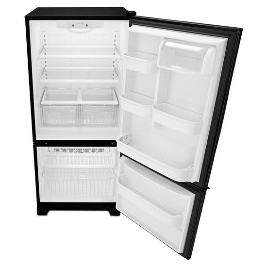 Model: ABB1921BRB | Amana 29-inch Wide Bottom-Freezer Refrigerator with Garden Fresh™ Crisper Bins -- 18 cu. ft. Capacity