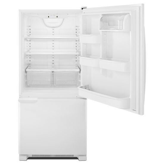 Model: ABB1921BRW | Amana 29-inch Wide Bottom-Freezer Refrigerator with Garden Fresh™ Crisper Bins -- 18 cu. ft. Capacity