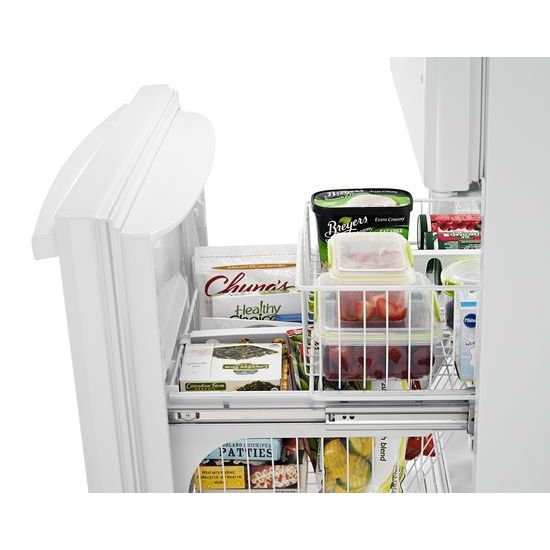 Model: ABB1924BRW | Amana 29-inch Wide Bottom-Freezer Refrigerator with EasyFreezer™ Pull-Out Drawer -- 18 cu. ft. Capacity