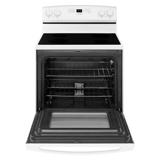Model: AER6303MFW | Amana 30-inch Electric Range with Extra-Large Oven Window