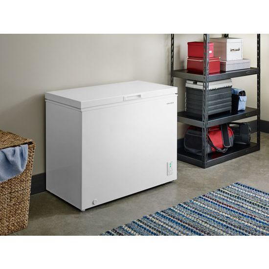 Model: AQC0701GRW | 7.0 Cu. Ft. Compact Freezer with 1 Basket