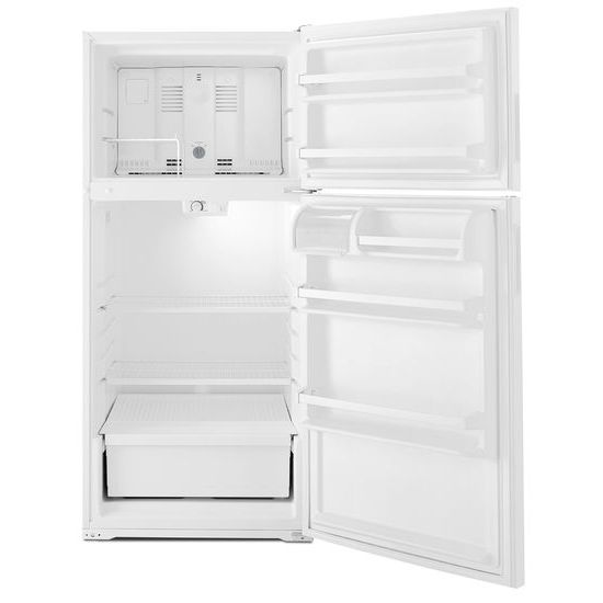 Model: ART104TFDW | Amana 28-inch Top-Freezer Refrigerator with Dairy Bin