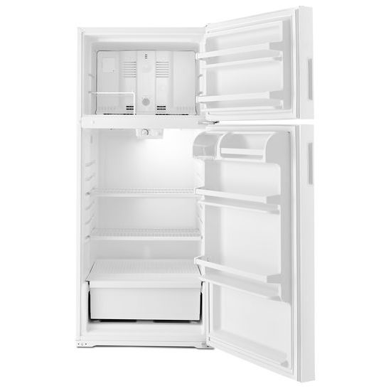 Model: ART106TFDB | Amana 28-inch Top-Freezer Refrigerator with Gallon Door Storage Bins