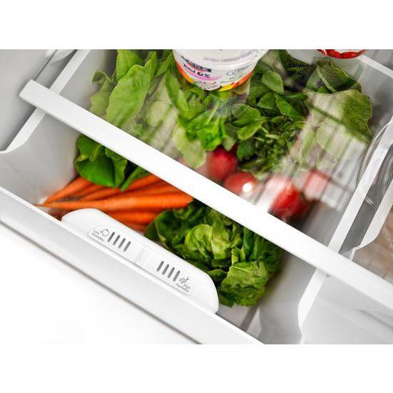 Model: ART308FFDW | Amana 30-inch Wide Top-Freezer Refrigerator with Garden Fresh™ Crisper Bins - 18 cu. ft.
