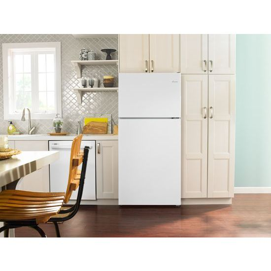 Model: ART318FFDW | Amana 30-inch Amana® Top-Freezer Refrigerator with Glass Shelves