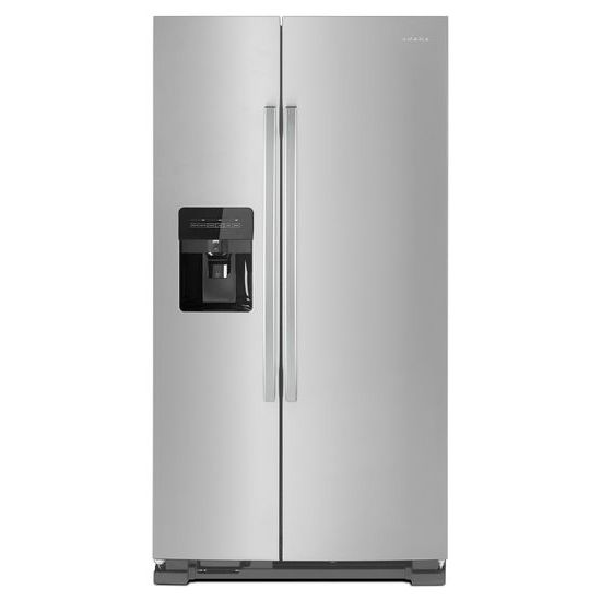36-inch Side-by-Side Refrigerator with Dual Pad External Ice and Water Dispenser