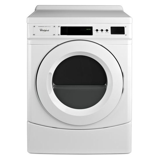 "Model: CED9160GW | Whirlpool 27"" Commercial Electric Front-Load Dryer, Non-Vend"