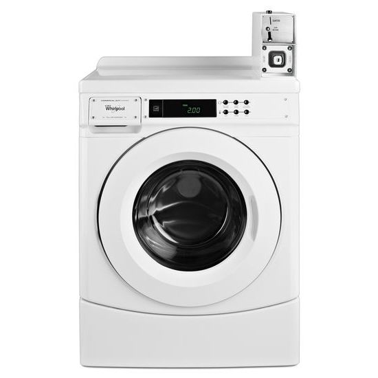 "Whirlpool 27"" Commercial High-Efficiency Energy Star-Qualified Front-Load Washer Featuring Factory-Installed Coin Drop with Coin Box"