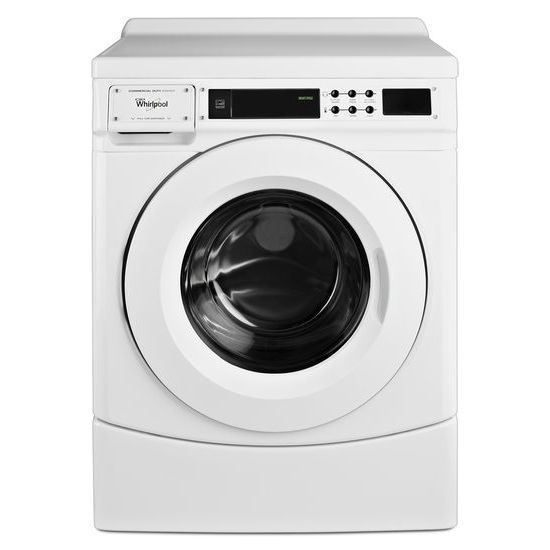 "Whirlpool 27"" Commercial High-Efficiency Energy Star-Qualified Front-Load Washer, Non-Vend"