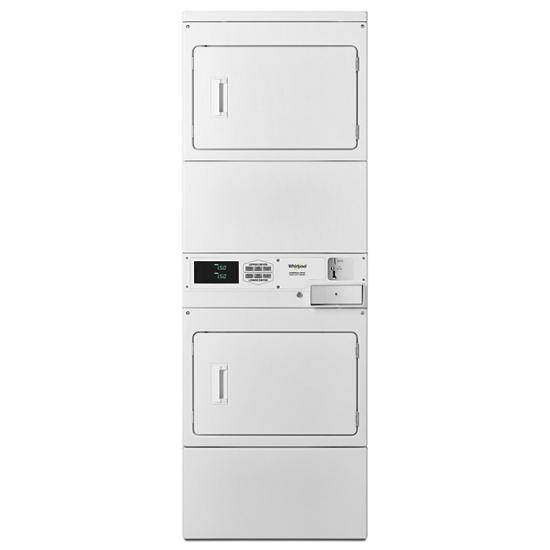 Model: CSP2940HQ | Whirlpool Commercial Electric Stack Dryer, Coin-Drop Equipped