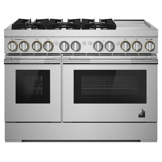 "Jenn-Air RISE™ 48"" Dual-Fuel Professional Range with Chrome-Infused Griddle"