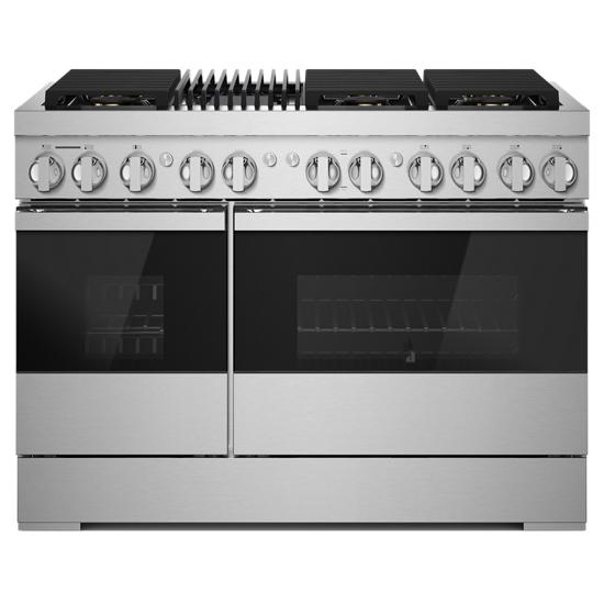 "Jenn-Air NOIR™ 48"" Dual-Fuel Professional Range with Gas Grill"