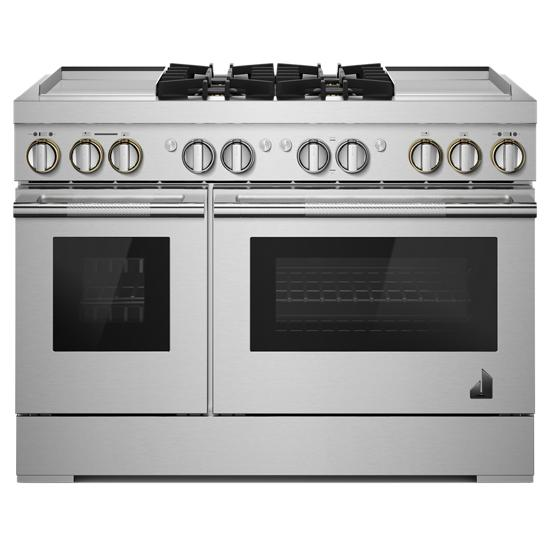 "Jenn-Air RISE™ 48"" Dual-Fuel Professional Range with Dual Chrome-Infused Griddles"