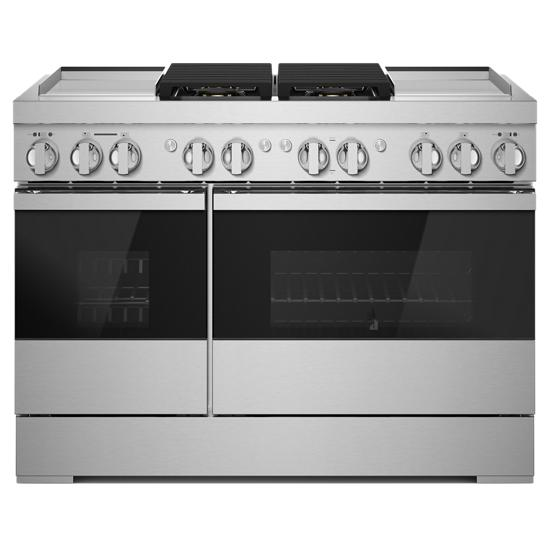 "Jenn-Air NOIR™ 48"" Dual-Fuel Professional Range with Dual Chrome-Infused Griddles"