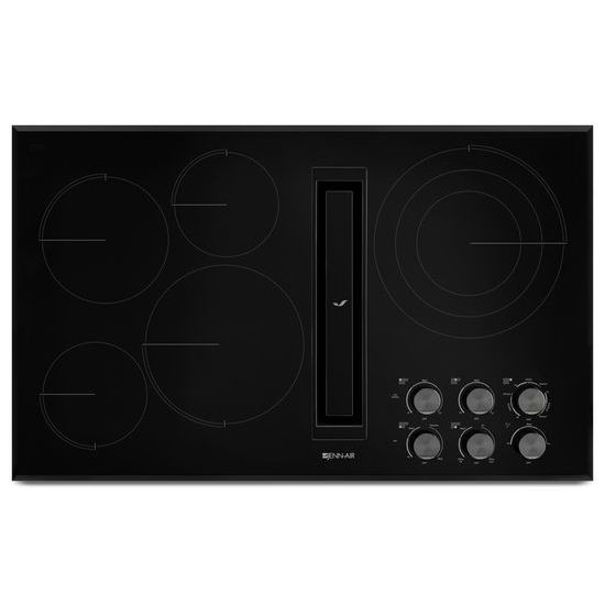 "Jenn-Air Black Floating Glass 36"" JX3™ Electric Downdraft Cooktop"