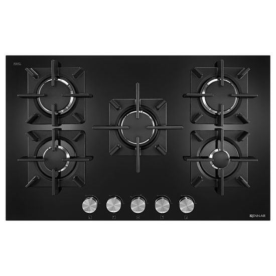 "Model: JGC2530EB | Jenn-Air Black Floating Glass 30"" 5-Burner Gas Cooktop"