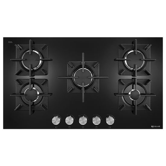 "Jenn-Air Black Floating Glass 36"" 5-Burner Gas Cooktop"