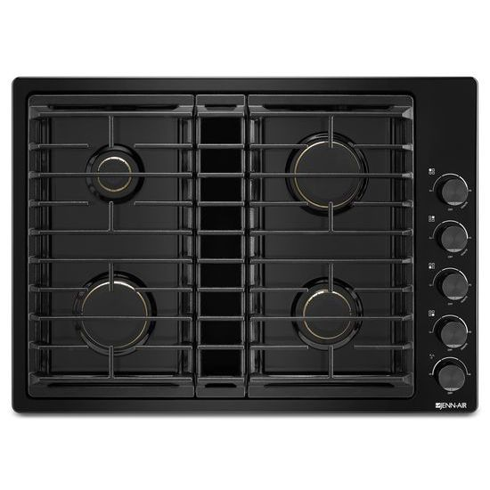 "Jenn-Air Black 30"" JX3™ Gas Downdraft Cooktop"
