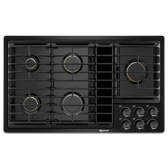 "Model: JGD3536GB | Jenn-Air Black 36""JX3™ Gas Downdraft Cooktop"