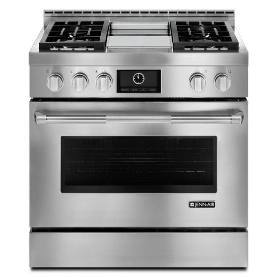 "Jenn-Air Pro-Style® 36"" Gas Range with Griddle and MultiMode® Convection"