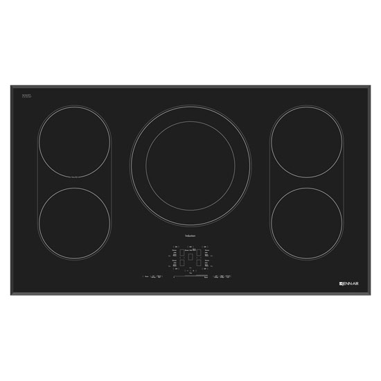 "Model: JIC4536XB | Jenn-Air Black Floating Glass 36"" Induction Cooktop"