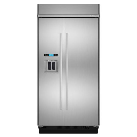 "Jenn-Air 48"" Built-In Side-by-Side Refrigerator with Water Dispenser"