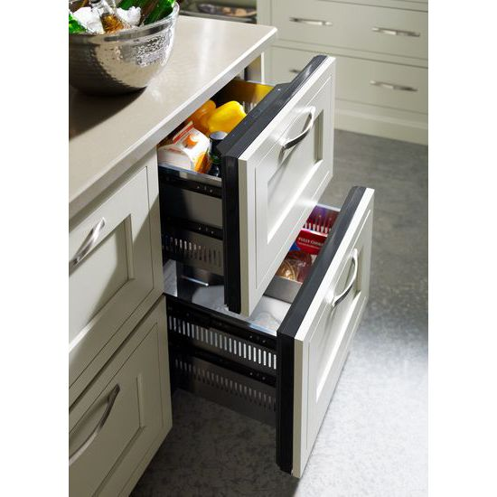 "Model: JUD24FRECX | Jenn-Air Panel-Ready 24"" Double-Refrigerator Drawers"