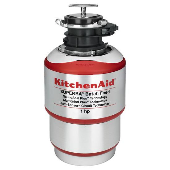 Model: KBDS100T | KitchenAid 1-Horsepower  Batch Feed Food Waste Disposer
