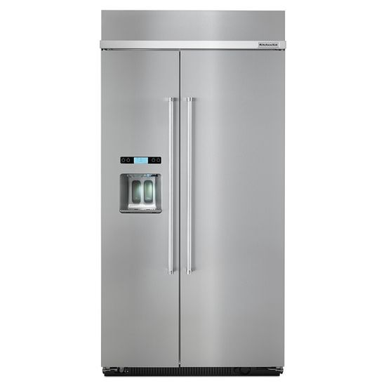 KitchenAid 25.0 cu. ft 42-Inch Width Built-In Side by Side Refrigerator with PrintShield™ Finish