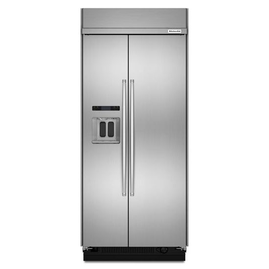 KitchenAid 20.8 cu ft 36-Inch Width Built-In Side-by-Side Refrigerator with PrintShield™ Finish