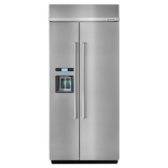 Model: KBSD606ESS | KitchenAid 20.8 cu ft 36-Inch Width Built-In Side-by-Side Refrigerator with PrintShield™ Finish