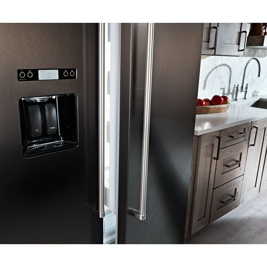 Model: KBSD608EBS | 29.5 cu. ft 48-Inch Width Built-In Side by Side Refrigerator with PrintShield™ Finish