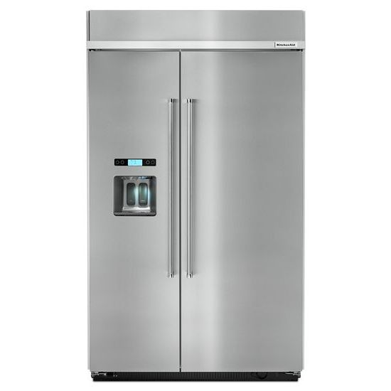 KitchenAid 29.5 cu. ft 48-Inch Width Built-In Side by Side Refrigerator with PrintShield™ Finish