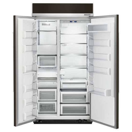 Model: KBSN602EBS | 25.5 cu. ft 42-Inch Width Built-In Side by Side Refrigerator with PrintShield™ Finish