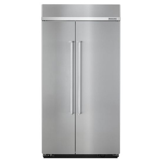 KitchenAid 25.5 cu. ft 42-Inch Width Built-In Side by Side Refrigerator with PrintShield™ Finish