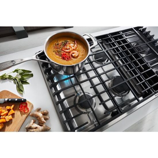 "Model: KCGD506GSS | KitchenAid 36"" 5 Burner Gas Downdraft Cooktop"