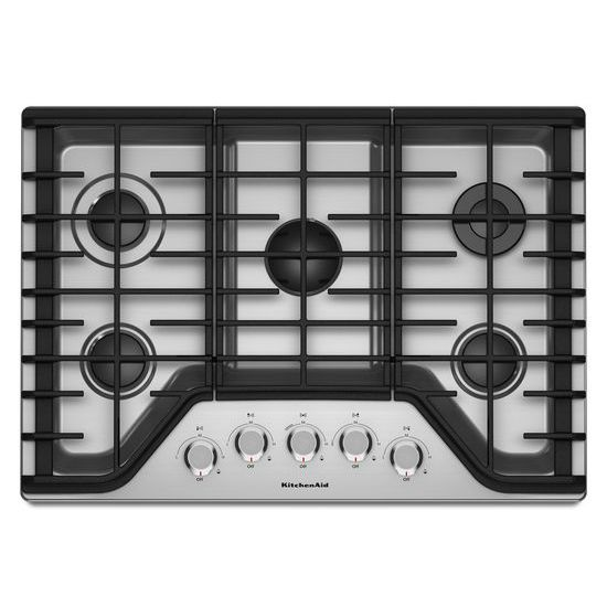 Model: KCGS350ESS | KitchenAid 30'' 5-Burner Gas Cooktop