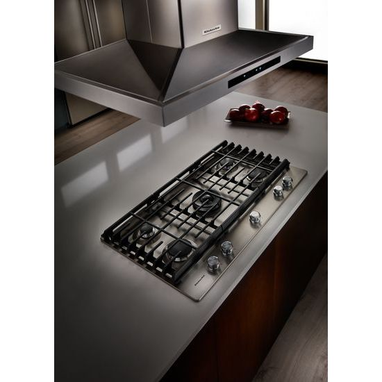 Model: KCGS550ESS | KitchenAid 30'' 5-Burner Gas Cooktop
