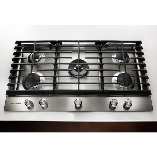 Model: KCGS556ESS | 36'' 5-Burner Gas Cooktop