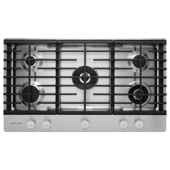 KitchenAid 36'' 5-Burner Gas Cooktop with Griddle