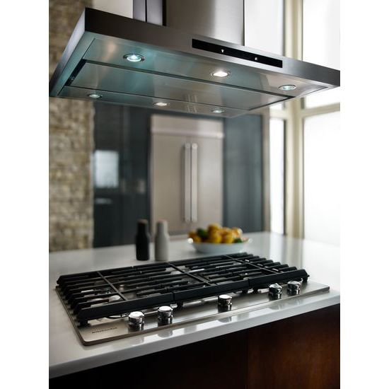 "Model: KCGS956ESS | KitchenAid 36"" 5-Burner Gas Cooktop with Griddle"