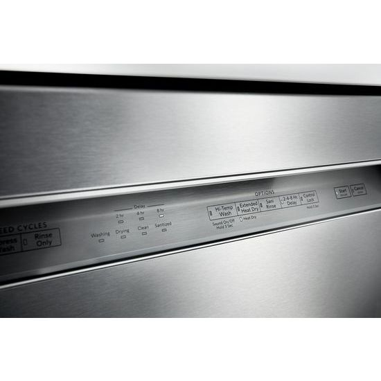 Model: KDFE104HPS | KitchenAid 46 DBA Dishwasher with ProWash™ Cycle and PrintShield™ Finish, Front Control