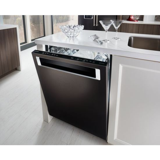 Model: KDPE234GBS | KitchenAid 46 DBA Dishwasher with Third Level Rack and PrintShield™ Finish, Pocket Handle